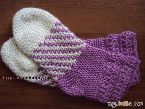 Теплые кокетливые носочки